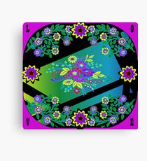 Smart Tech, Home, and Fashion Accessories Black and Multicolor Foulard Print Canvas Print