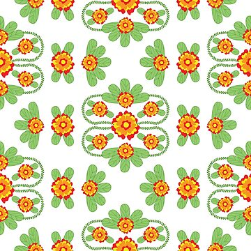 Bright floral pattern in ethnic style by Eng-Sun