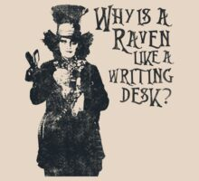 Why is a raven like a writing desk? | Unisex T-Shirt