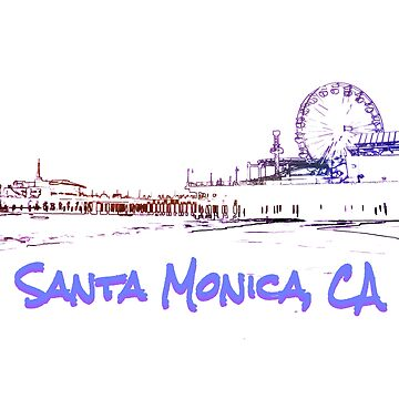 Santa Monica, CA Silhouette by stine1