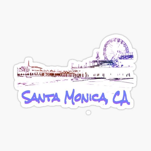 Santa Monica, CA Silhouette Sticker