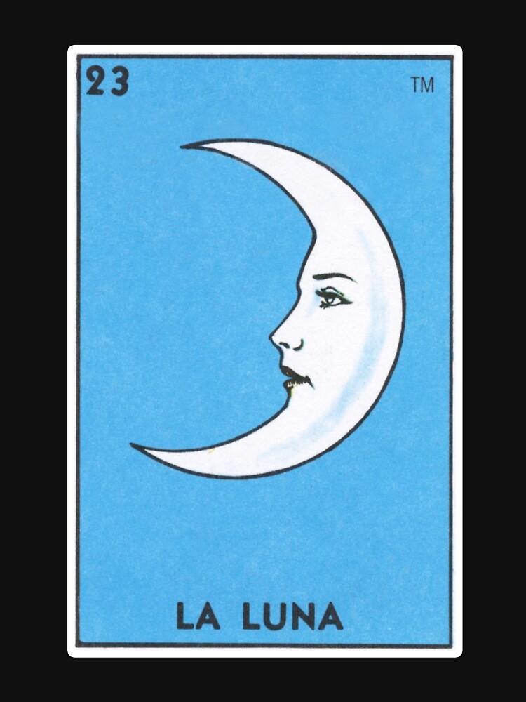 Loteria La Luna Loteria Bingo Mexicano Tarjeta de MulitoBandito