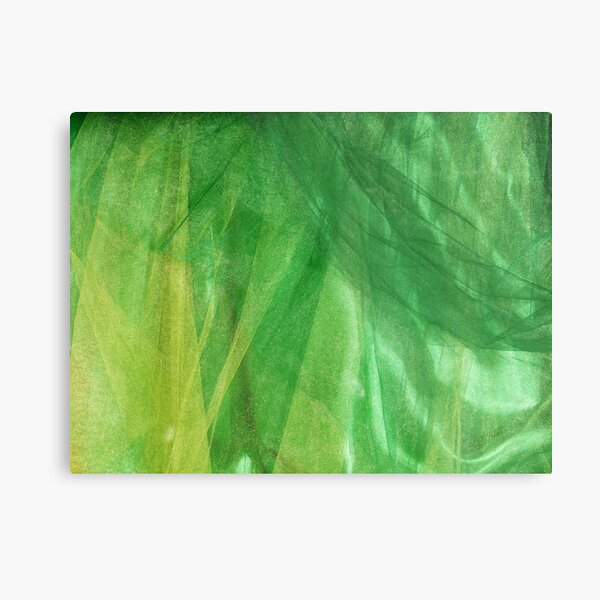 Shimmering green Metal Print