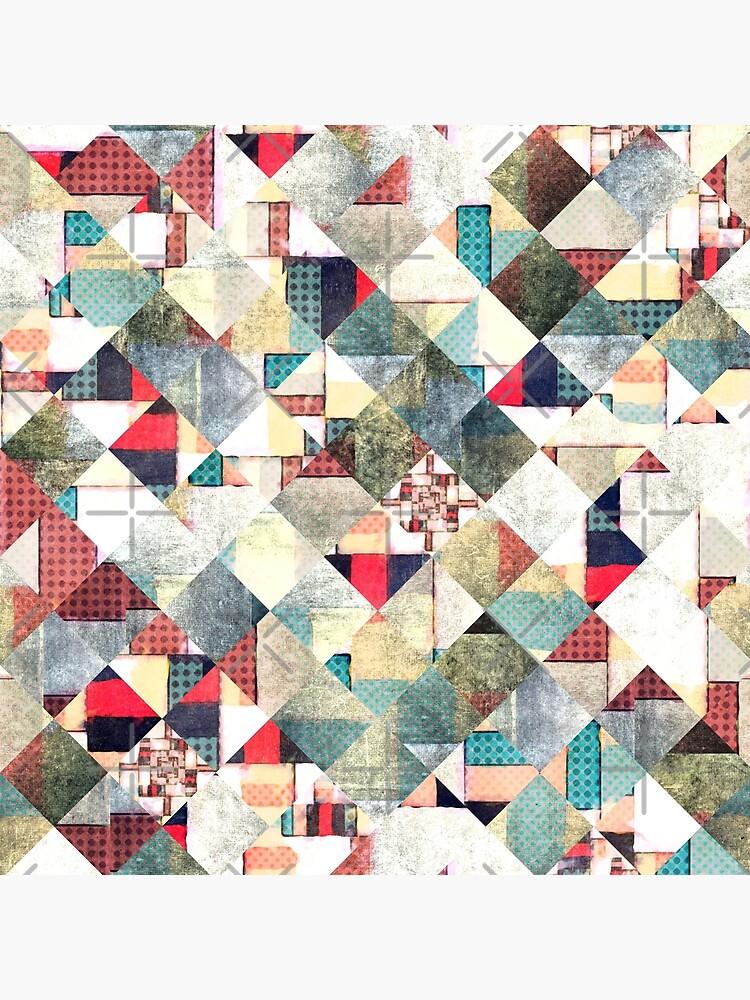 Grunge Weave Pattern by perkinsdesigns