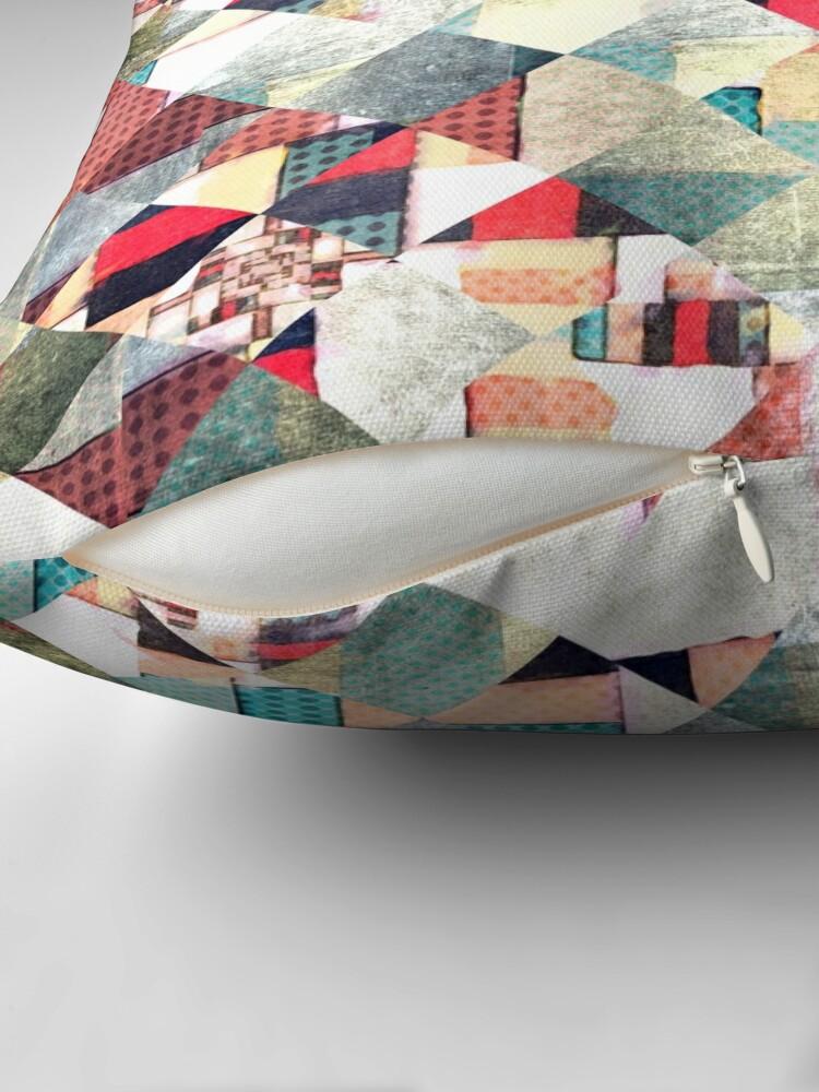 Alternate view of Grunge Weave Pattern Throw Pillow