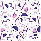 cute pink/purple eighties print by effisummers