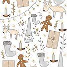cute nordic christmas print by effisummers