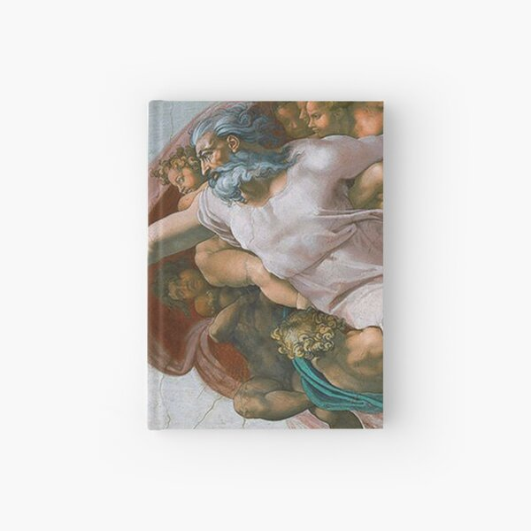 The Creation of Adam Painting by Michelangelo Sistine Chapel Design Hardcover Journal