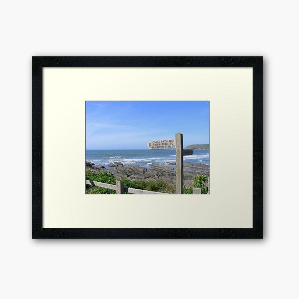 coast path here Framed Art Print
