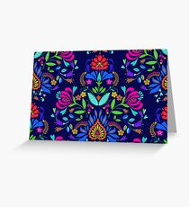 folk pattern - mexican vacation.  Greeting Card