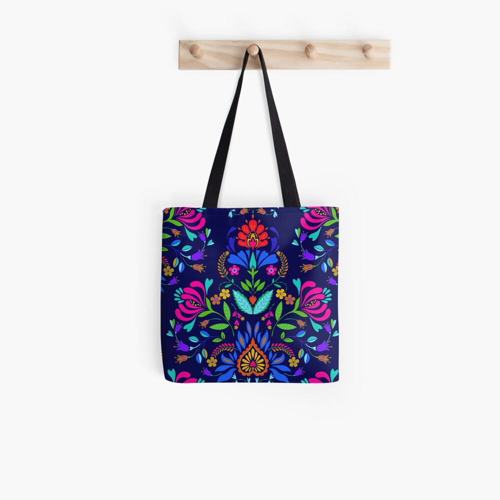 folk pattern - mexican vacation.  Tote Bag