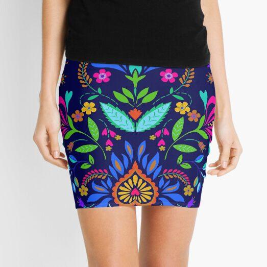 folk pattern - mexican vacation.  Mini Skirt