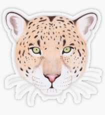 African Leopard Transparent Sticker