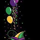 Karneval Mardi Gras Narrenkappe Luftballons von Christine Krahl