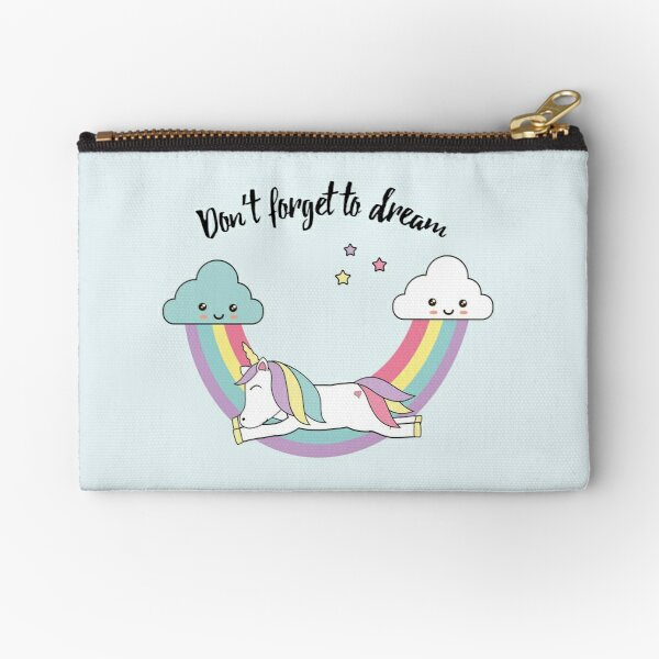 Unicorn - don't forget to dream  Zipper Pouch