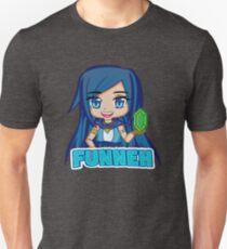 Blue haired Manga Funneh Slim Fit T-Shirt