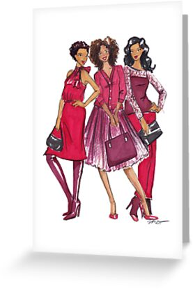 Ladies in Red by Veronica Miller Jamison