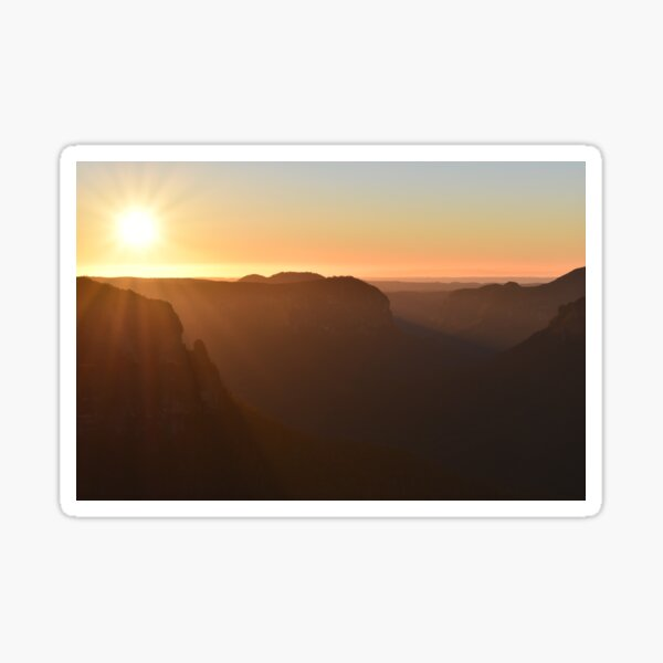 Sunrise- Govetts Leap, Blue Mountains Sticker
