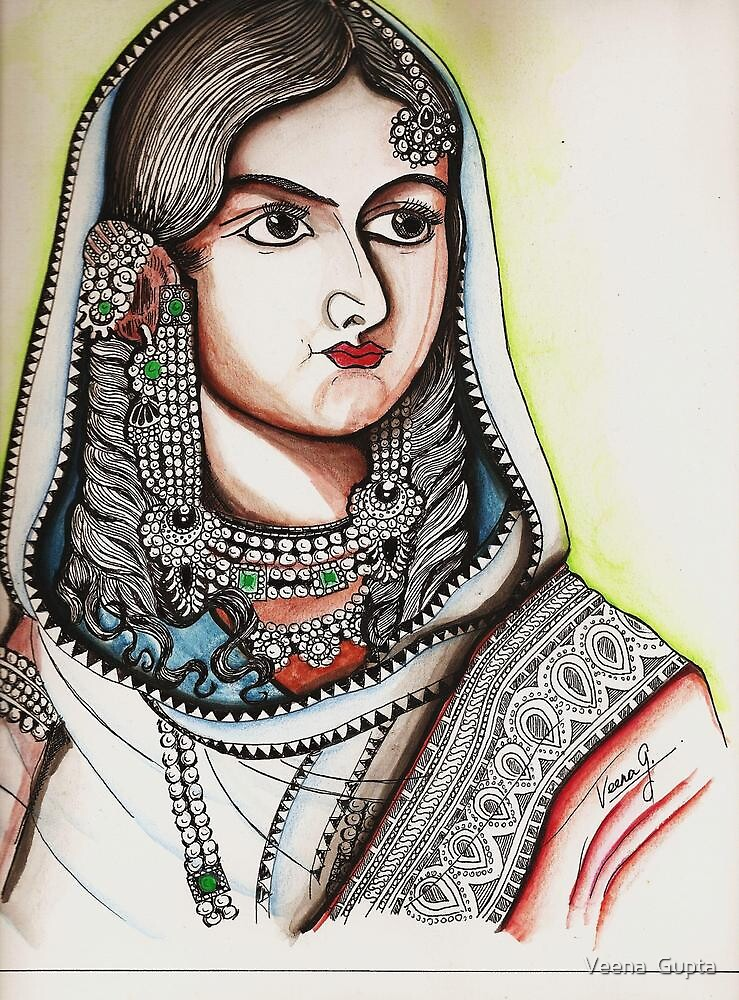 Bhadur Shahs's queen by Veena  Gupta