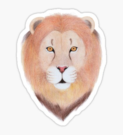 African Lion Glossy Sticker