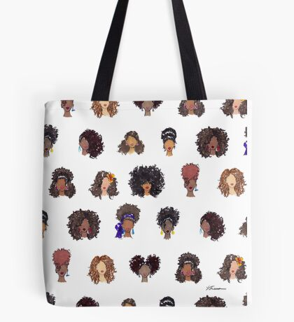 How To Be Curly Allover Tote Bag