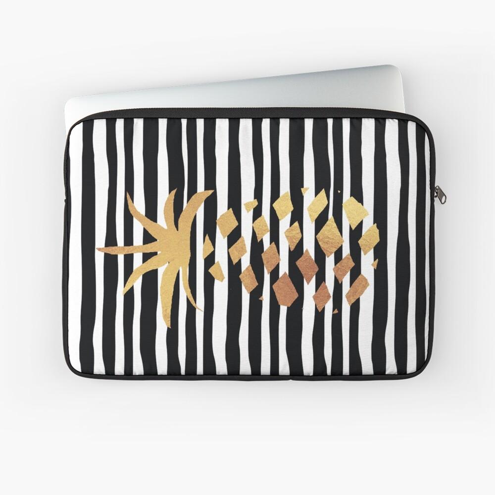 Gold Pineapple-B&W Laptop Sleeve