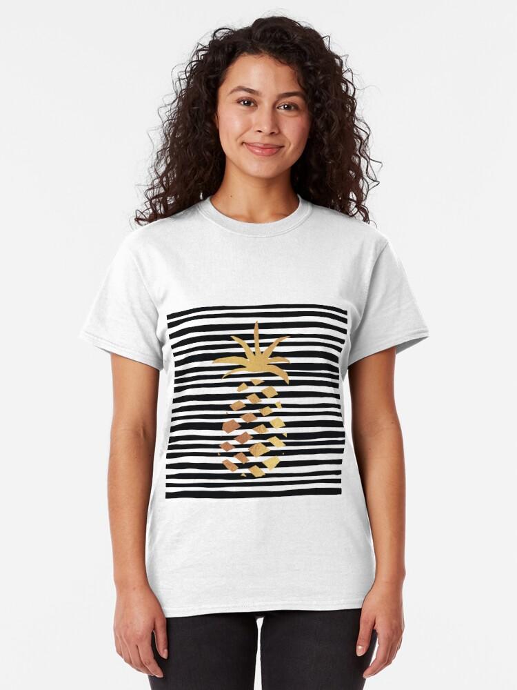 Alternate view of Gold Pineapple-B&W Classic T-Shirt