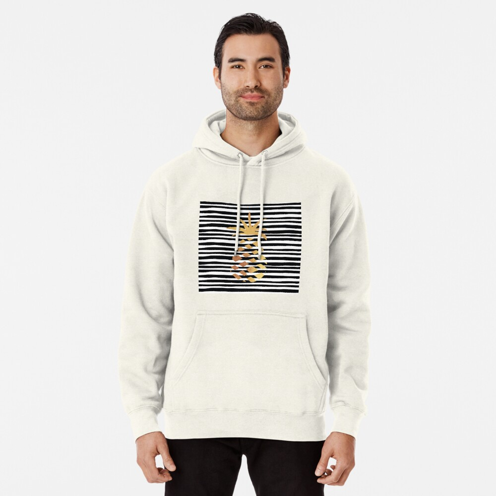Gold Pineapple-B&W Pullover Hoodie