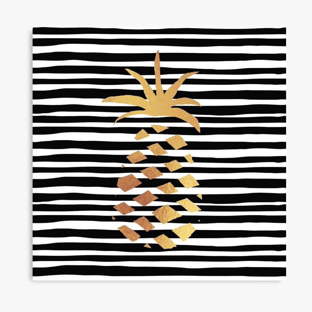 Gold Pineapple-B&W Canvas Print