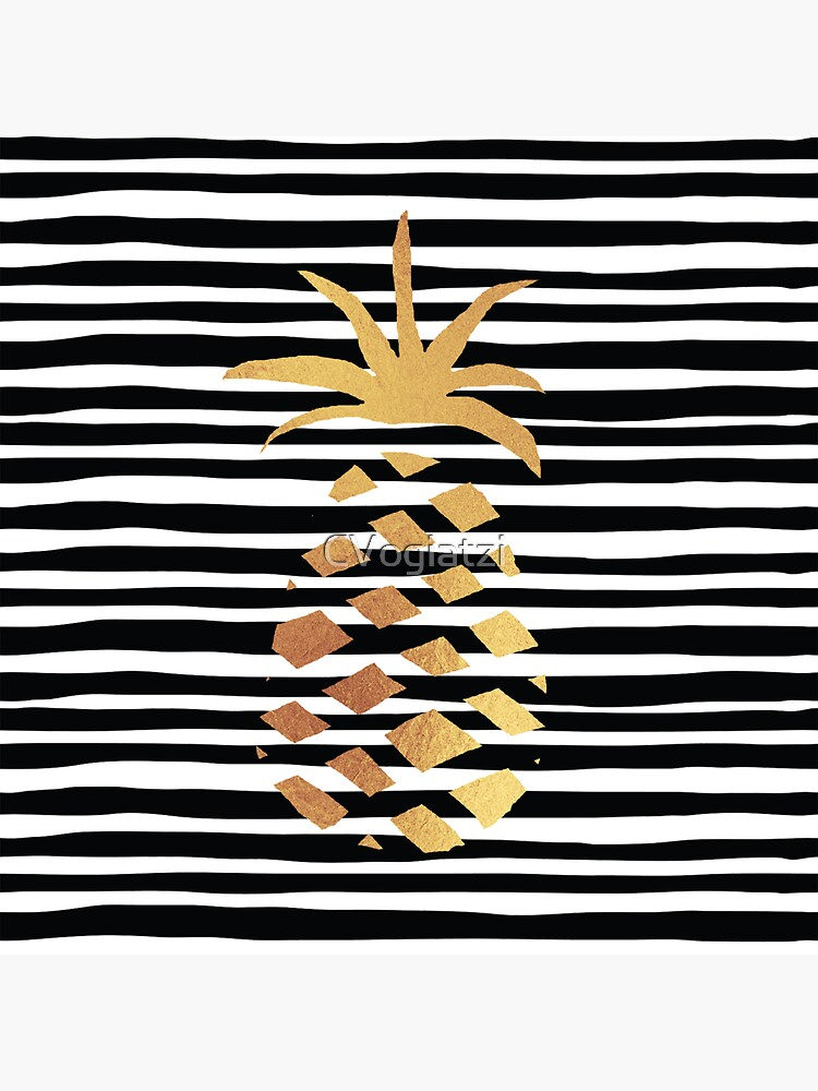 Gold Pineapple-B&W by CVogiatzi