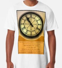 The Clock in the Plaza Long T-Shirt