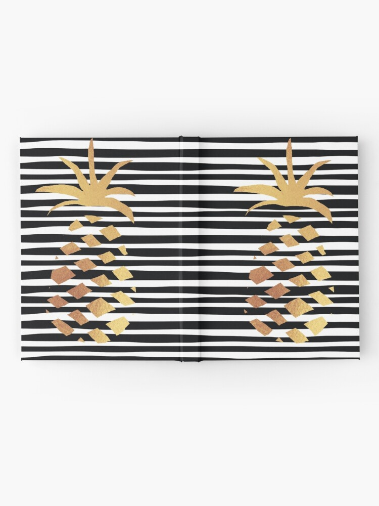 Alternate view of Gold Pineapple-B&W Hardcover Journal
