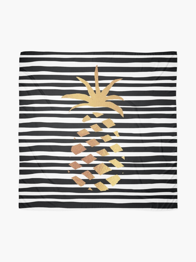 Alternate view of Gold Pineapple-B&W Scarf