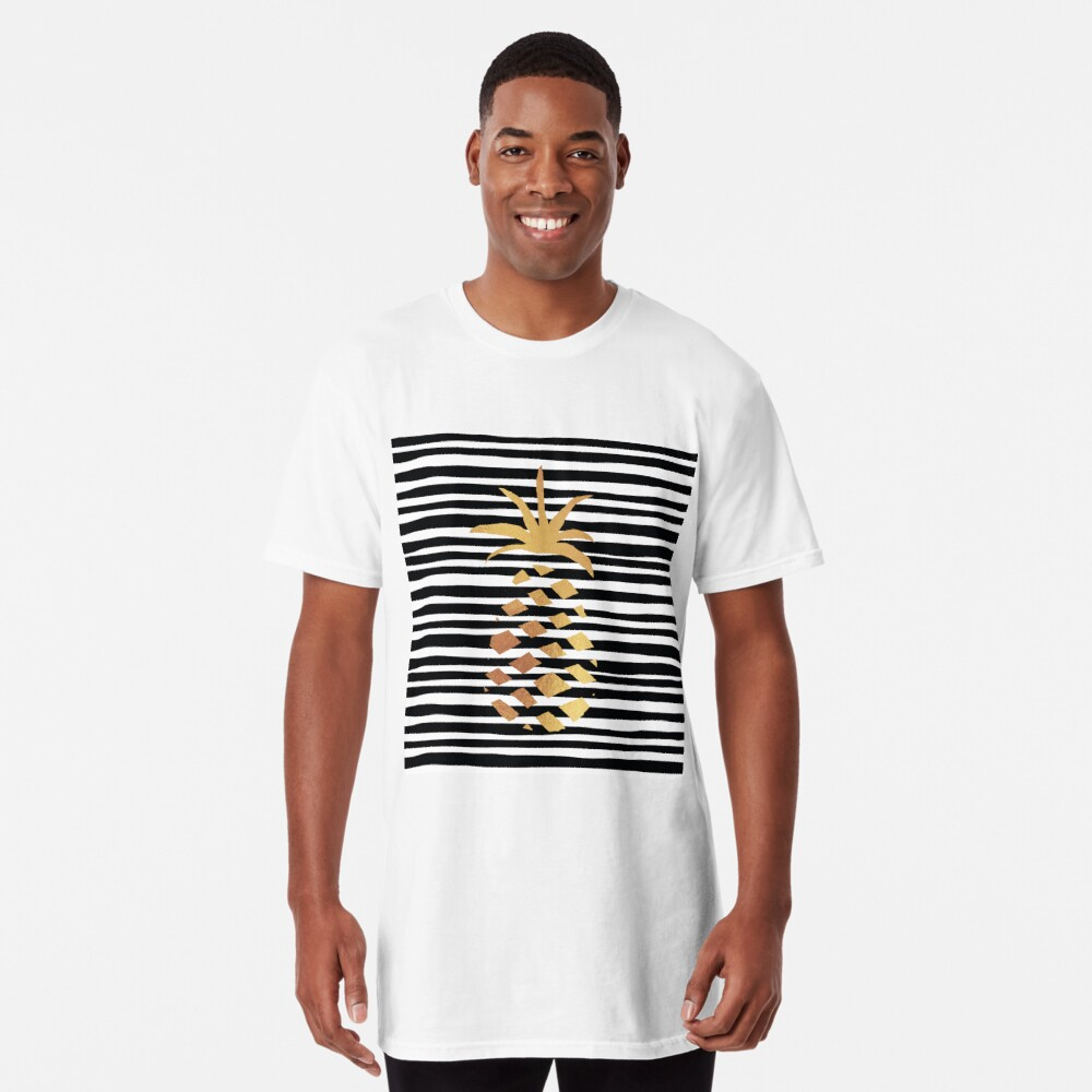 Gold Pineapple-B&W Long T-Shirt
