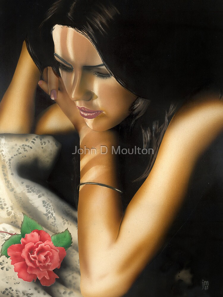 """The Rose"" Water colour painting by John D Moulton"