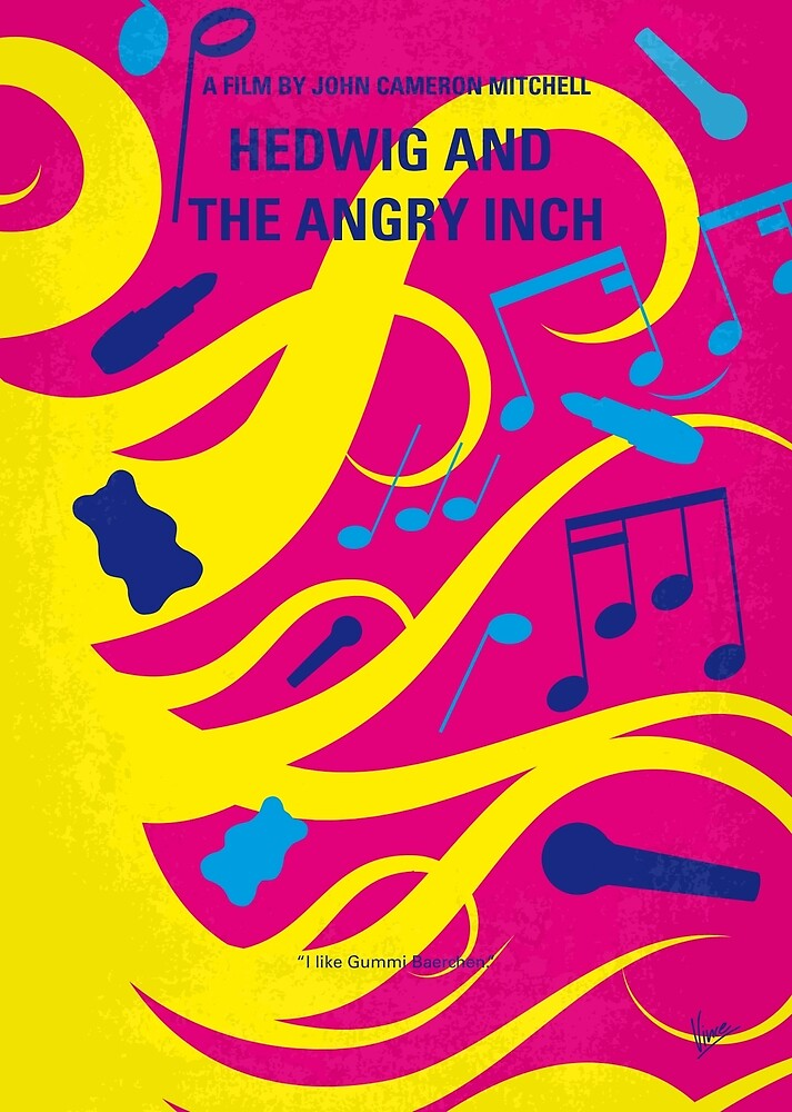No1046 Meine Hedwig und das minimale Filmposter von Angry Inch von ChungKong Art