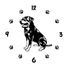 Rottweiler Unisex Wall Clock. Rottweiler Dog Owner Gift by KsuAnn