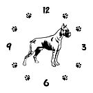 Boxer Dog Wall Clock. Boxer Dog Owner Gift by KsuAnn
