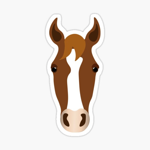 Dark Chestnut Horse Sticker