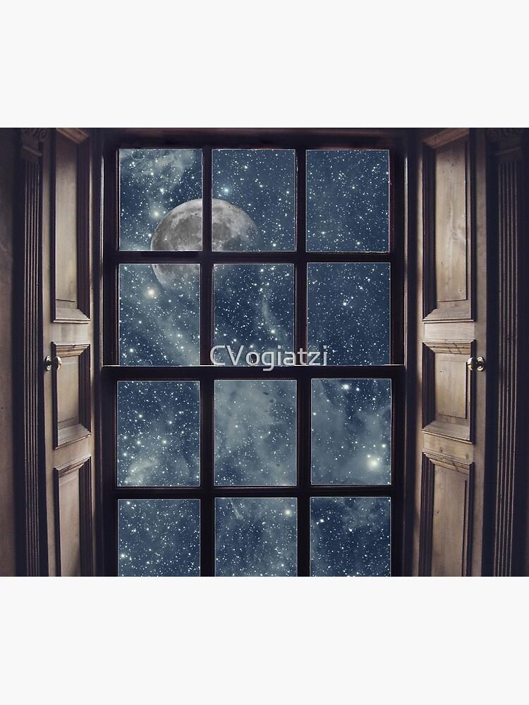 Space view Window-Moon shine by CVogiatzi