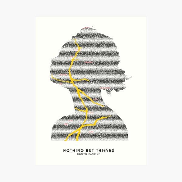 Nothing But Thieves Broken Machine Full Album Lyrics Art Print
