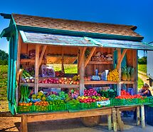 Road Side Fruit Stand by Bill Wetmore
