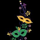 Karneval Mardi Gras Masken Fleur De Lis  von Christine Krahl
