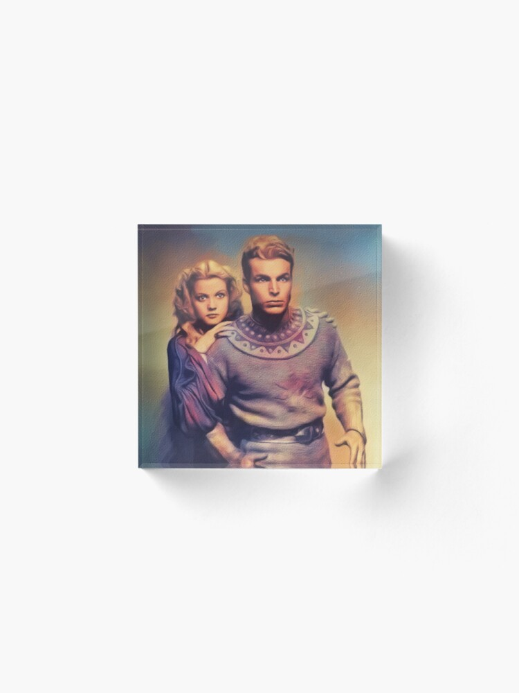 Alternate view of Buster Crabbe and jean Rogers, Flash Gordon Acrylic Block