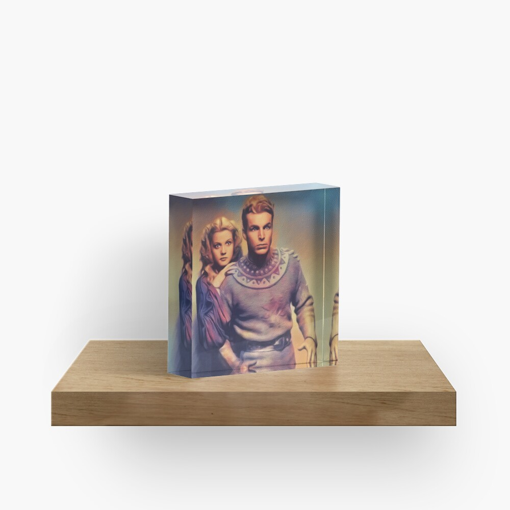 Buster Crabbe and jean Rogers, Flash Gordon Acrylic Block