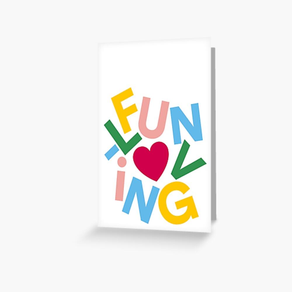 Fun-Loving Valentine's Day Card Greeting Card