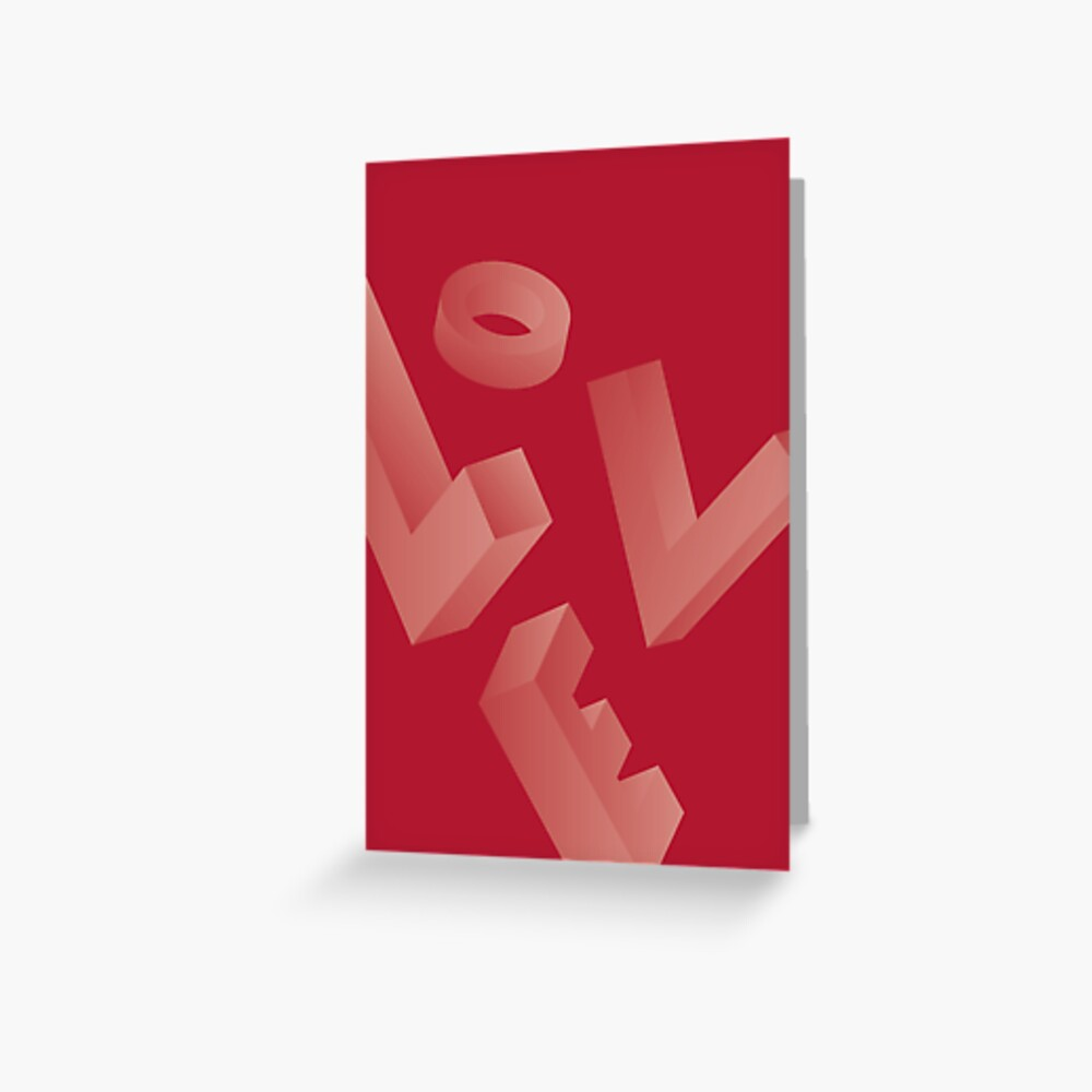 Love - Valentine's Day Card Greeting Card