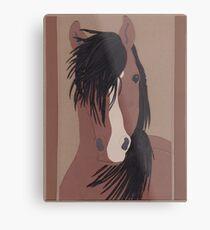 Pferd Metalldruck