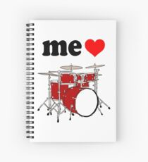 Me Love Drums Spiral Notebook
