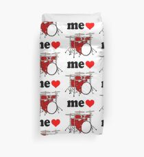 Me Love Drums Duvet Cover